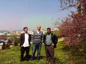 Wes, Ekrem, and me on Sabanci University's campus