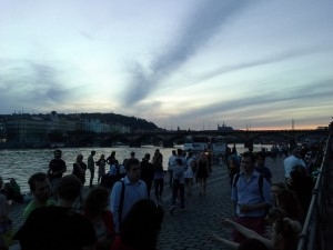 Summer evening along the Vltava