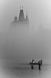 Vltava in fog