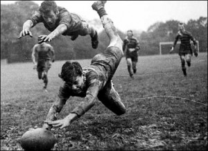 rugby in mud