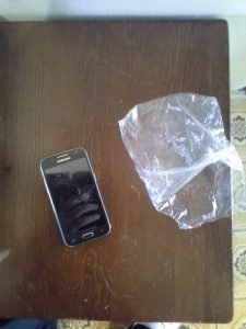 Broken Phone with Carrying Case